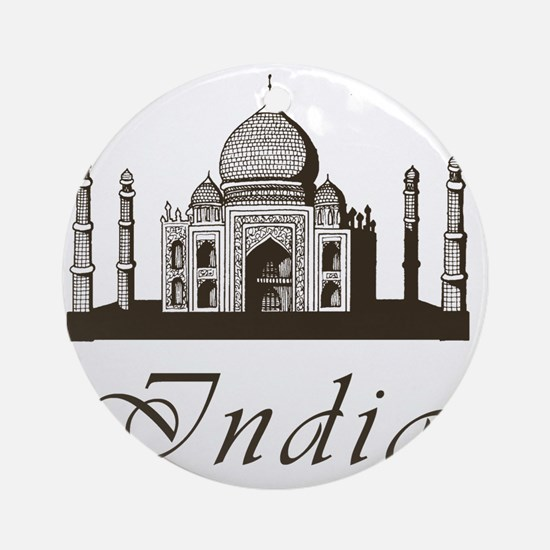 Retro Taj Mahal Round Ornament