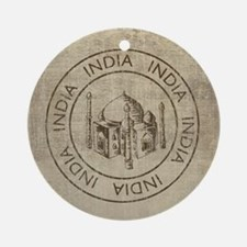 Vintage India Round Ornament