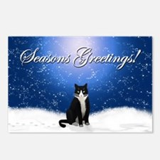 Seasons Greetings Tuxedo  Postcards (Package of 8)