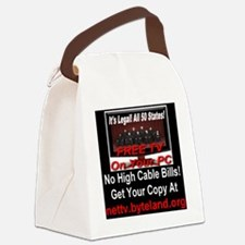 Its Legal All 50 States Free TV O Canvas Lunch Bag