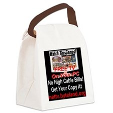 .Watch The Games! Free TV on Your Canvas Lunch Bag