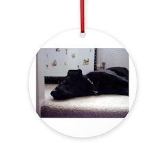 Sleeping Dog Ornament (Round)