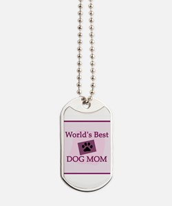World's Best Dog Mom Dog Tags