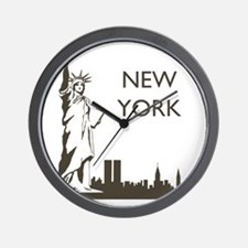 Retro New York Wall Clock