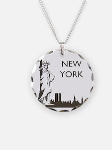 Retro New York Necklace