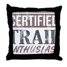 Certified Trail Enthusiast lite Throw Pillow