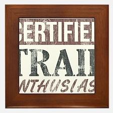 Certified Trail Enthusiast lite Framed Tile