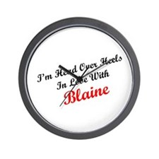 In Love with Blaine Wall Clock