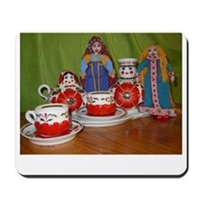 Russian Doll Tea Time Mousepad