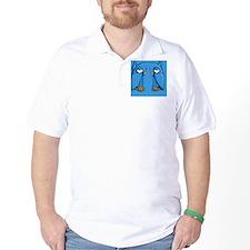 Aqua Owl blue Flip Flops T-Shirt