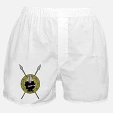 Hedgehog Viking on Shield Boxer Shorts