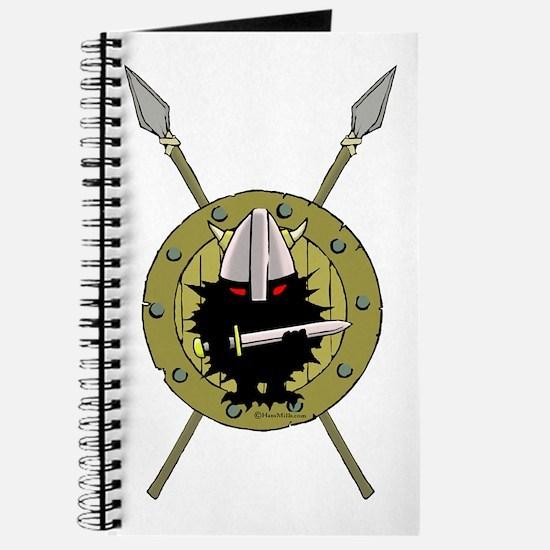 Hedgehog Viking on Shield Journal