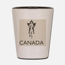 Retro Canada Shot Glass
