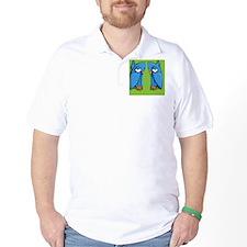 Aqua Owl green Flip Flops T-Shirt