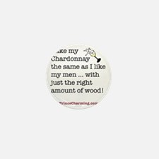 Wood chard and men Mini Button