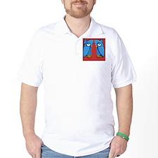 Aqua Owl red Flip Flops T-Shirt