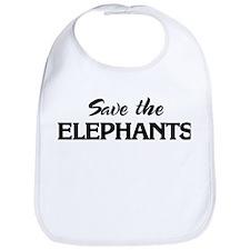 Save the ELEPHANTS Bib