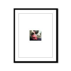 Dog in Jacket Framed Panel Print