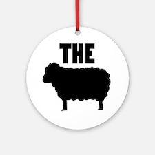 The Black Sheep Round Ornament