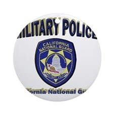 California National Guard MP Round Ornament