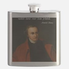 Patrick Henry Bible Quote Flask