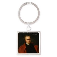 Patrick Henry Christian Quote Square Keychain