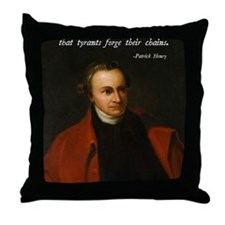 Patrick Henry Christian Quote Throw Pillow