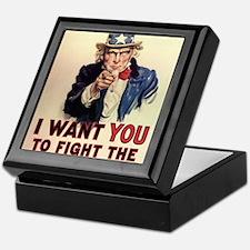 Fight The Welfare State Keepsake Box