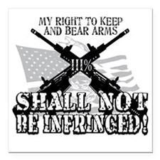 "Shall Not Be Infringed Square Car Magnet 3"" x 3"""
