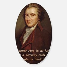 Thomas Paine Sticker (Oval)