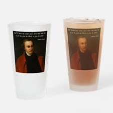 Liberty or Death Quote Drinking Glass