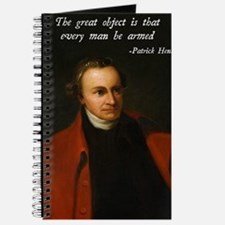 Patrick Henry Second Amendment Quote Journal