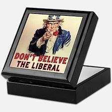 Dont Believe The Liberal Media Keepsake Box