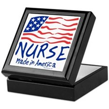 Made in America Nurse Tote Bag Keepsake Box
