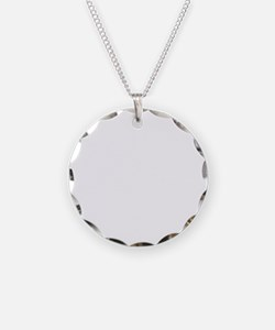 Tattoo (white) Necklace Circle Charm
