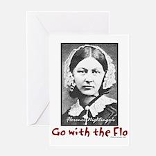 Go with the Flo - Florence Nightinga Greeting Card