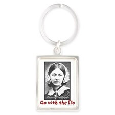 Go with the Flo - Florence Night Portrait Keychain