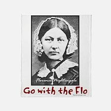 Go with the Flo - Florence Nightinga Throw Blanket