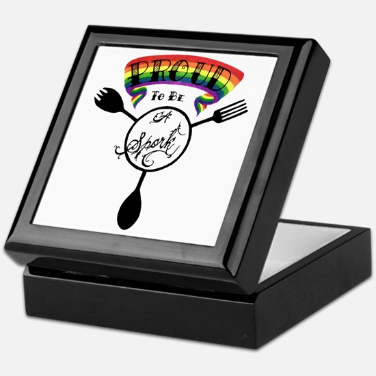 Proud to be a Spork Keepsake Box