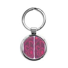 Tanya Flip Flops Round Keychain