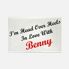In Love with Benny Rectangle Magnet