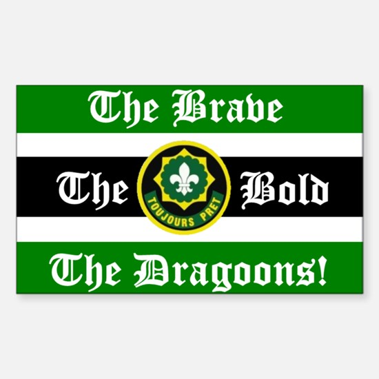 Dragoon Rugby Rectangle Decal