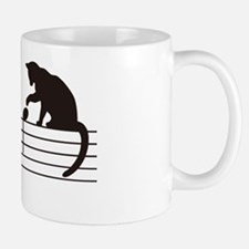 A Cat Toying with Notes Small Small Mug