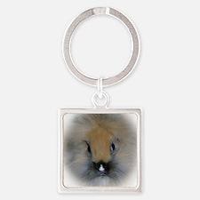 Lionhead Bunny Square Keychain