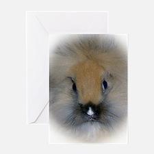 Lionhead Bunny Greeting Card