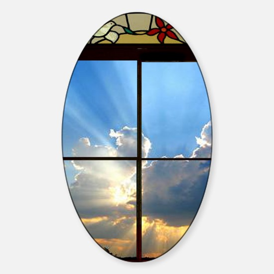 heavenly sky Sticker (Oval)