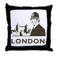 Retro London Throw Pillow