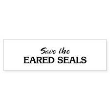 Save the EARED SEALS Bumper Bumper Sticker
