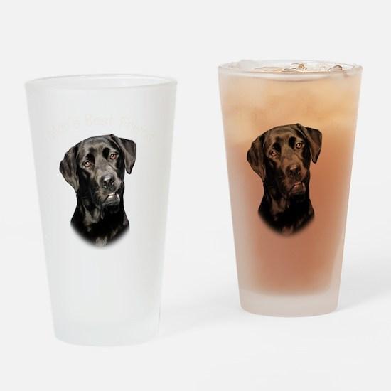 Mans Best Friend Drinking Glass