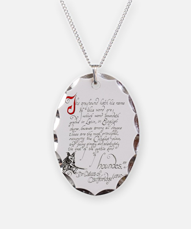 Ancient greyhound text Necklace